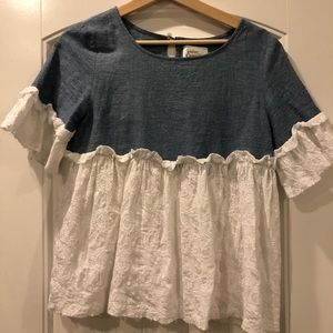 Cute Anthropologie Chambray top